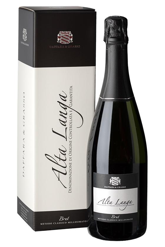 """Astuccio bottiglia singola in cartone personalizzato """"Alta Langa"""" Magnum 1,5 l."""